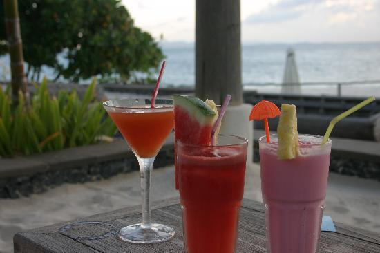 Nikoi Island: just some of the delicious mocktails cocktails and fresh juices