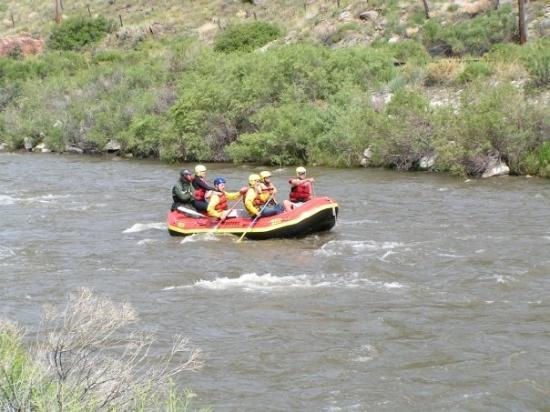 Canon City, CO: rafters on the Arkansas River