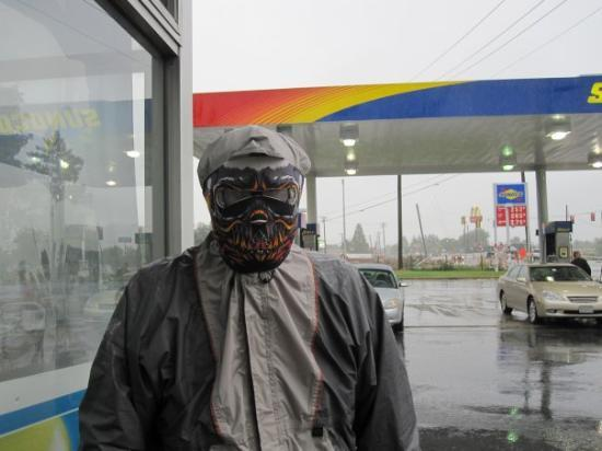 Staunton, Virginie : Gary in his rain gear