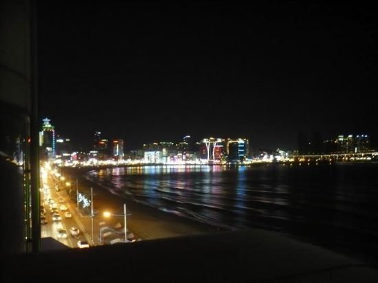 Gwangalli Beach: View from our hotel room.