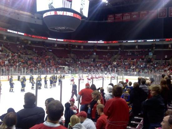 The Value City Arena at the Jerome Schottenstein Center: End of regulation (OSU:5 Michigan:3)