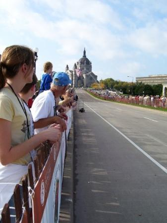 Saint Paul, MN: Twin Cities Marathon Finish. One of my favorite finishes. (October 2007)