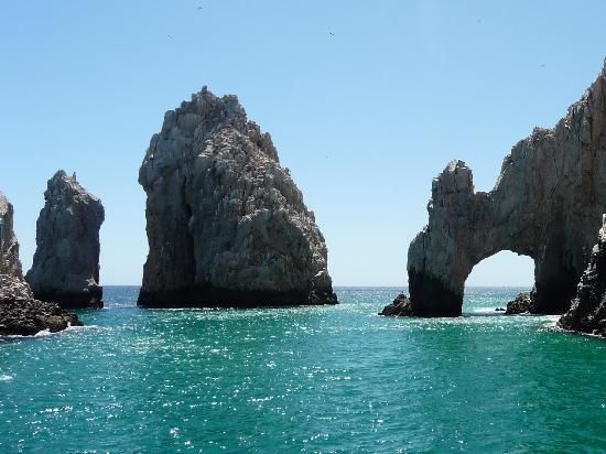 "Sheraton Grand Los Cabos Hacienda del Mar: Famous ""lands end"" from our cruise boat"
