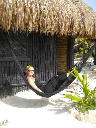 Coco Tulum: hanging out in my hammock!