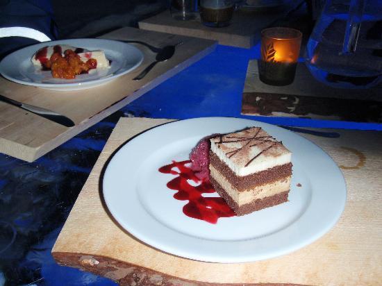 Kittila, Finland: Dessert in the Ice Restaurant