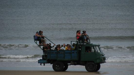 Cabo Polonio, อุรุกวัย: The monster trucks that take you into town