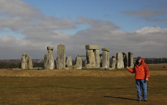 Stonehenge: No touching - you now stay behind the ropes because of destructive tourists