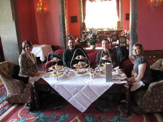 Adare Manor: tea time in drawing room