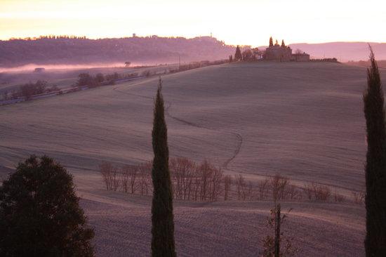 Pienza, إيطاليا: l'alba dal casale