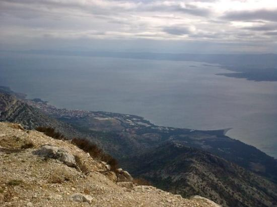 Isla de Brac, Croacia: pogled z Vidove gore na Bol in Zlatni rat