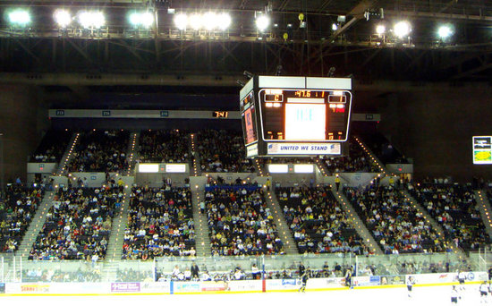 Pensacola Civic Center: Pensacola Ice Flyers vs. Mississisppi Surge.. The most southern team won, wonder if there is eve