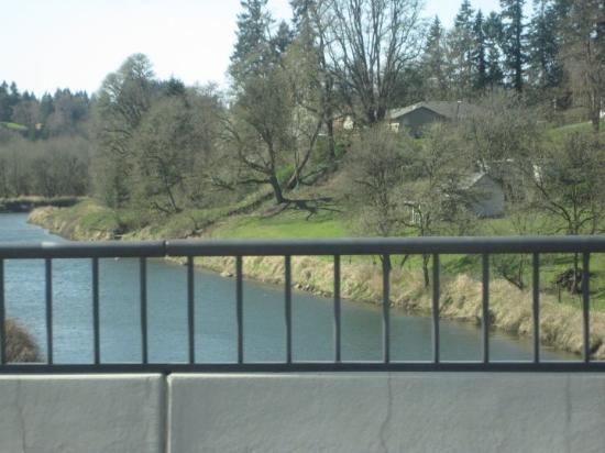 La Center, WA: the Lewis river as you drive into town.