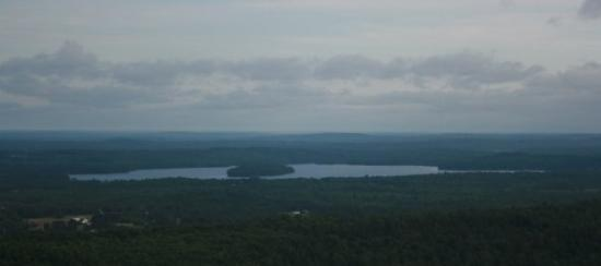 View from the top of mt. pisca. Winthrop, ME, USA