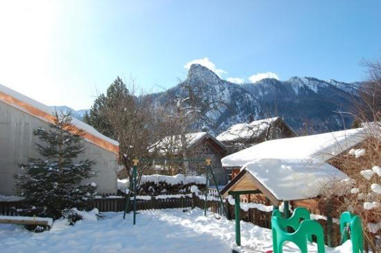 The view from the back of our apartment in Oberammergau.