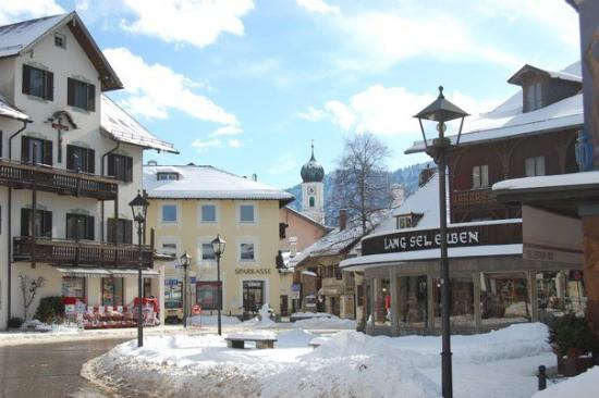 The little Bavarian town of Oberammergau.