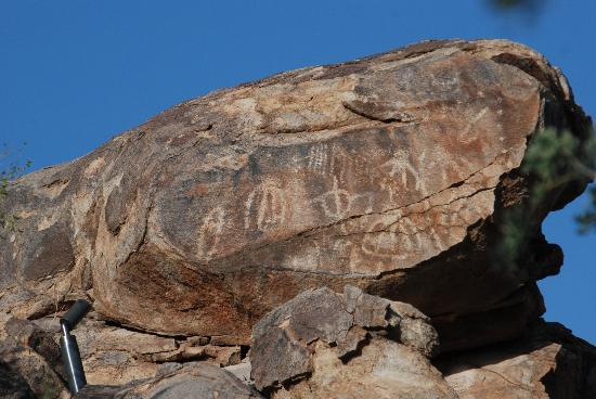 The Ritz-Carlton, Dove Mountain: petroglyphs by spa pool