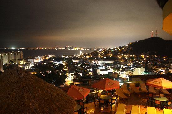 Mexico: Valarta at Night - view from Case Isabella; Puerto Vallarta, MX