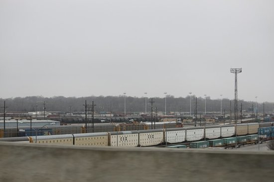 part three of a huge BNSF Railroad Yard on the way to Kansas Speedway    Kansas City, KS