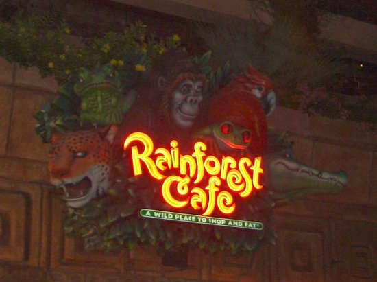The Rainforest Cafe in Downtown Disneyland.