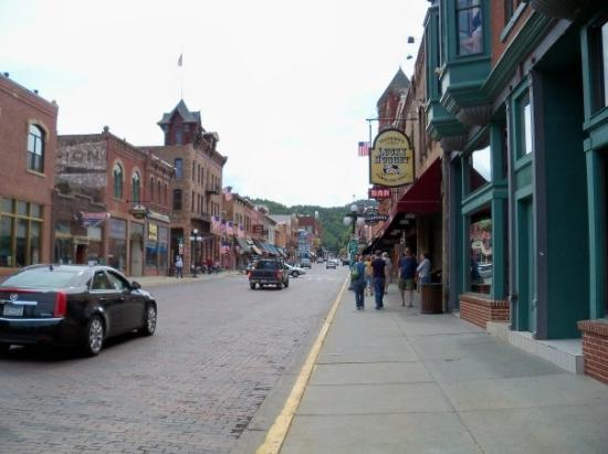 View of down the main street in Deadwood where Willd Bill got shot