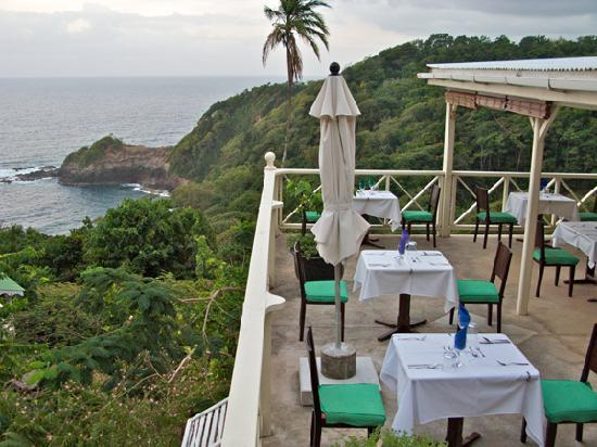 Beau Rive: The dining terace