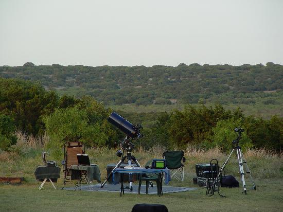X Bar Ranch: Star*Man's Astronomy set-up await's Night Sky