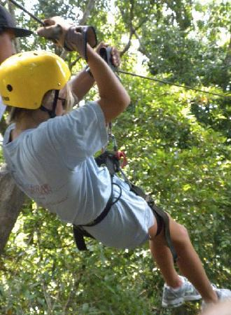Chiclets Tree Canopy Tour: about to take off