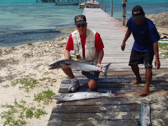 Isla Mujeres, Mexico: Terry with his catch