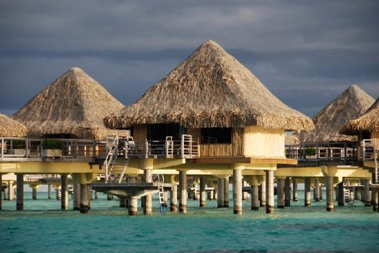 InterContinental Bora Bora Le Moana Resort: Our bungalo from the Shark Dive boat  #11