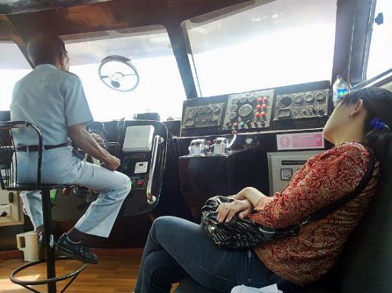 Tanjung Pinang, Indonesia: ehm ehm...pulut lagi tidur,..eh pramugari