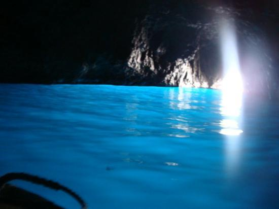 Sunlight shining into the Blue Grotto