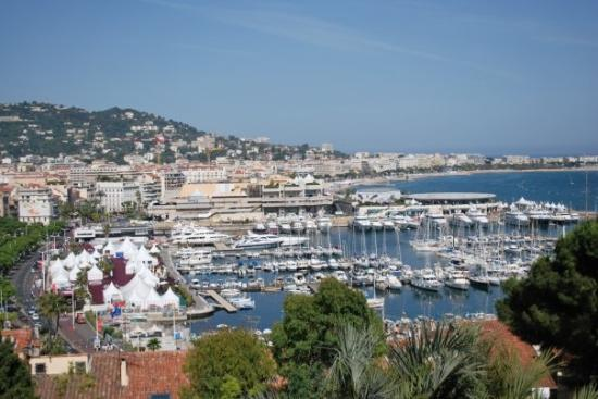 View of Cannes from above