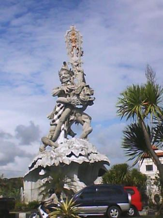 statue in the middle of Denpasar,,,