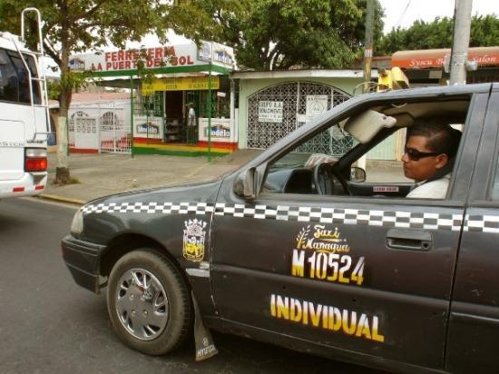 A taxi driver in Managua, Nicaragua.