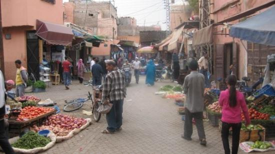 """Marrakech Souk: The beginning of alley ways called souks.  According to Wikipedia, """"Marrakech has the largest."""""""