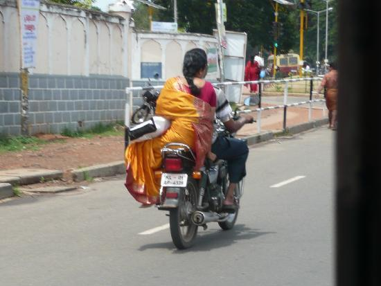 Thiruvananthapuram (Trivandrum), India: in moto