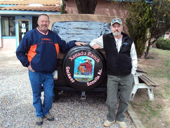 Sonoita, อาริโซน่า: Tad and Steve at Xanadu Ranch