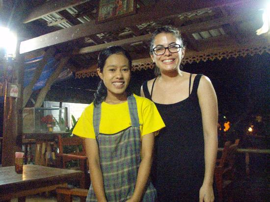 Nung House: Our new friend who ran reception and the restaurant