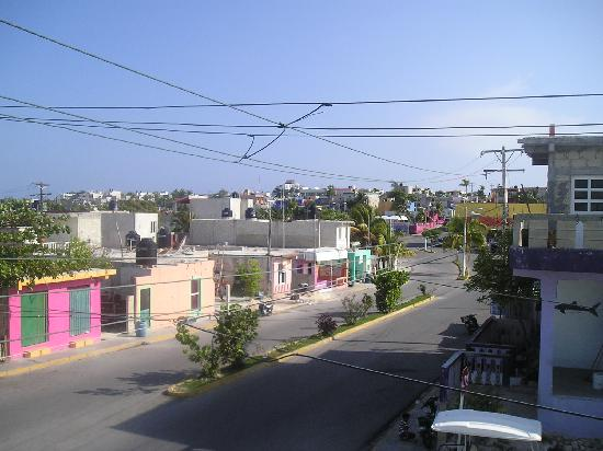the view from Zina's Guest House roof top patio of the La Gloria neighborhood
