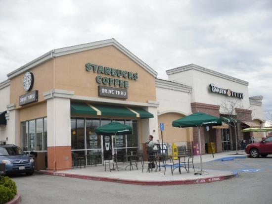 Starbucks coffee & Panera bread at Gilroy city