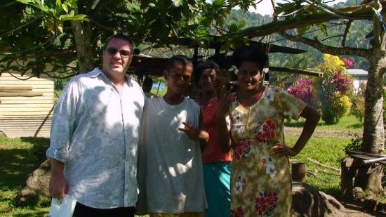 native village, on our way to the Savusavu waterfall on their land.
