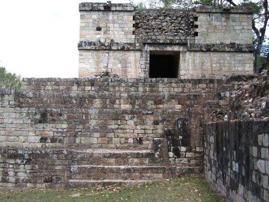 Copan, Honduras: Temple/Steam Room annex of Ball Court Structure