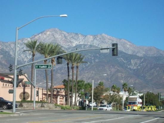 Riverside, CA: California-I thought it was interesting,  palm trees & mountains in the same place...