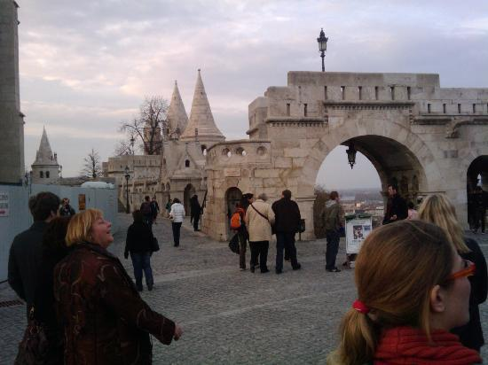 Free Budapest Tours & Multilingual Guides : The Fisherman's Bastion in Buda is part of the afternoon tour.