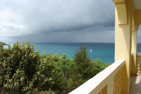 The Valley, Anguilla: View from the terrasse