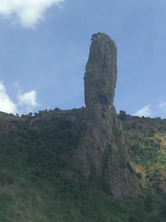 Lake Tana: amzing stone on the way from Gondar to Bahir dar