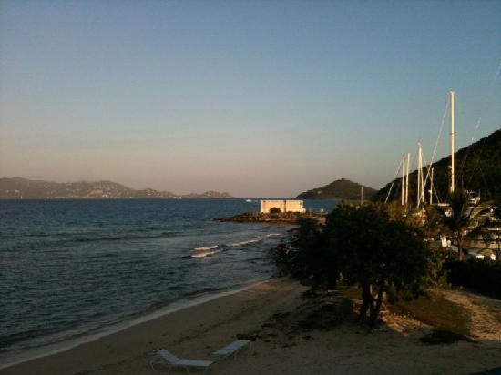 Sapphire Beach Resort: view of beach from condo terrace