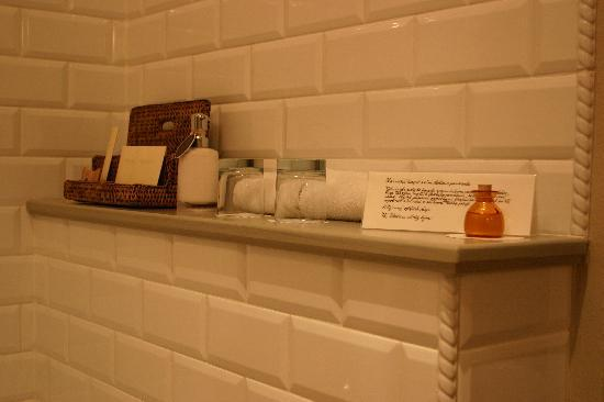 Chateau Mcely : house made bath oil in our bathroom