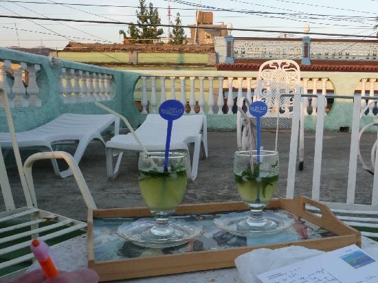 Casa de Miriam: la terrasse le soir