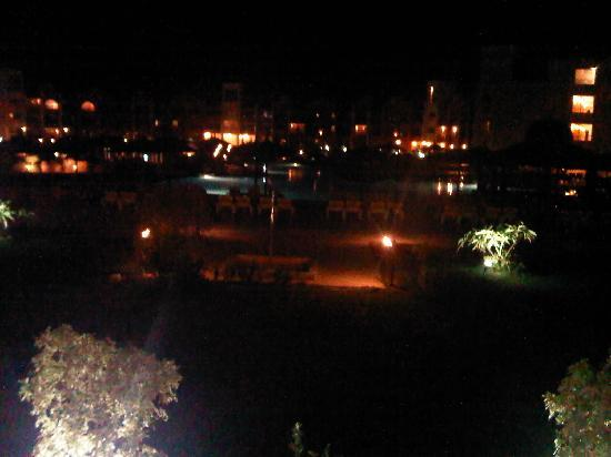 Tirana Aqua Park Resort: View from our room at night